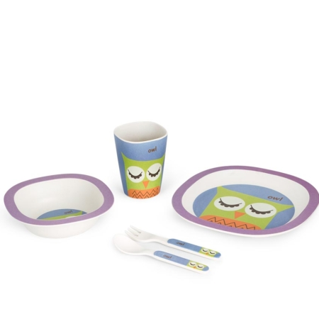 BB103-2 Little Owl lunch set 1