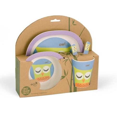 BB103-2 Little Owl lunch set 4