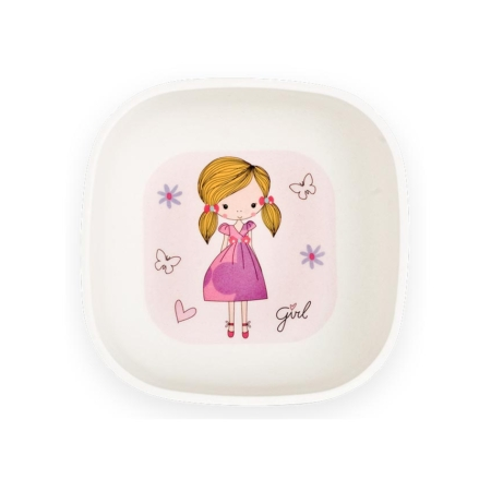 BB203-1 Fashion Girl Square Bowl Set inside