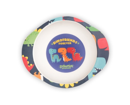 BB204-1 Dinosaur Bowl with Grippy Base 2