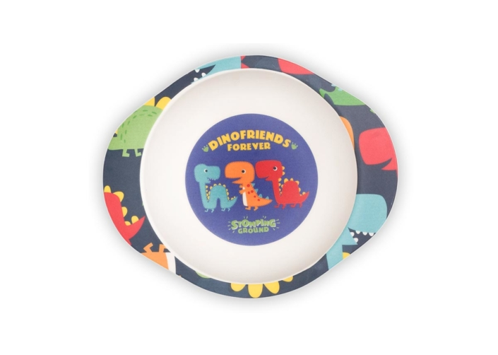 BB204-1 Dinosaur Bowl with Grippy Base 5