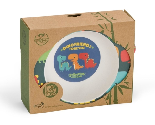 BB204-1 Dinosaur Bowl with Grippy Base 4