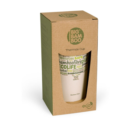 BB306-1 BigBamBoo Eco Go Thermos Bamboo Cup 500 ml box