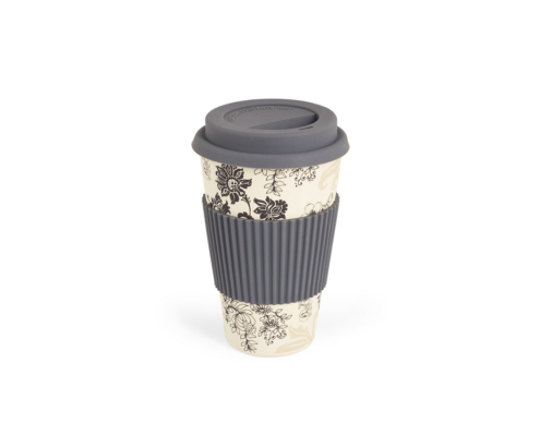 BBB304-1 BigBamBoo - Black & Grey To Go Bamboo Cup 400 ml 01