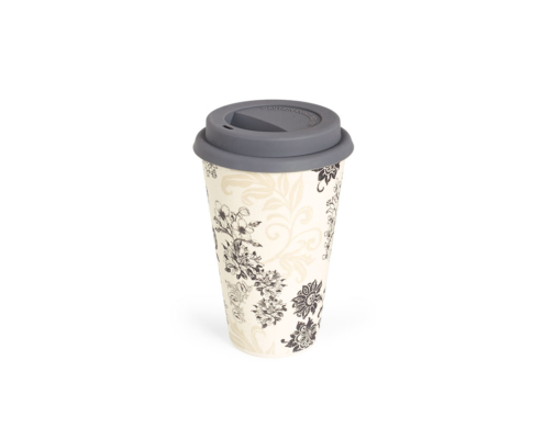 BBB304-1 BigBamBoo - Black & Grey To Go Bamboo Cup 400 ml 02