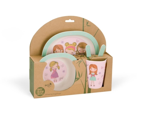 BB103-1 Set za jelo Fashion Girl pakovanje