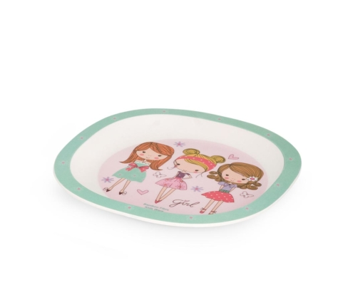 BB103-1 Set za jelo Fashion Girl tanjir